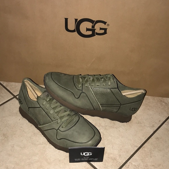 3263c669afe Men's UGG TRIGO UNLINED LACE UP SHOE MOSS GREEN NWT